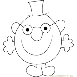 Mr. Clever Free Coloring Page for Kids