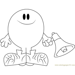 Mr. Noisy Free Coloring Page for Kids
