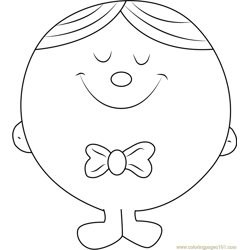 Mr. Perfect Free Coloring Page for Kids