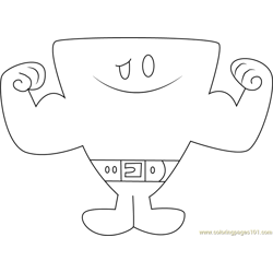 Mr. Strong Free Coloring Page for Kids