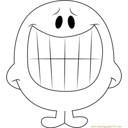 Smiling coloring page