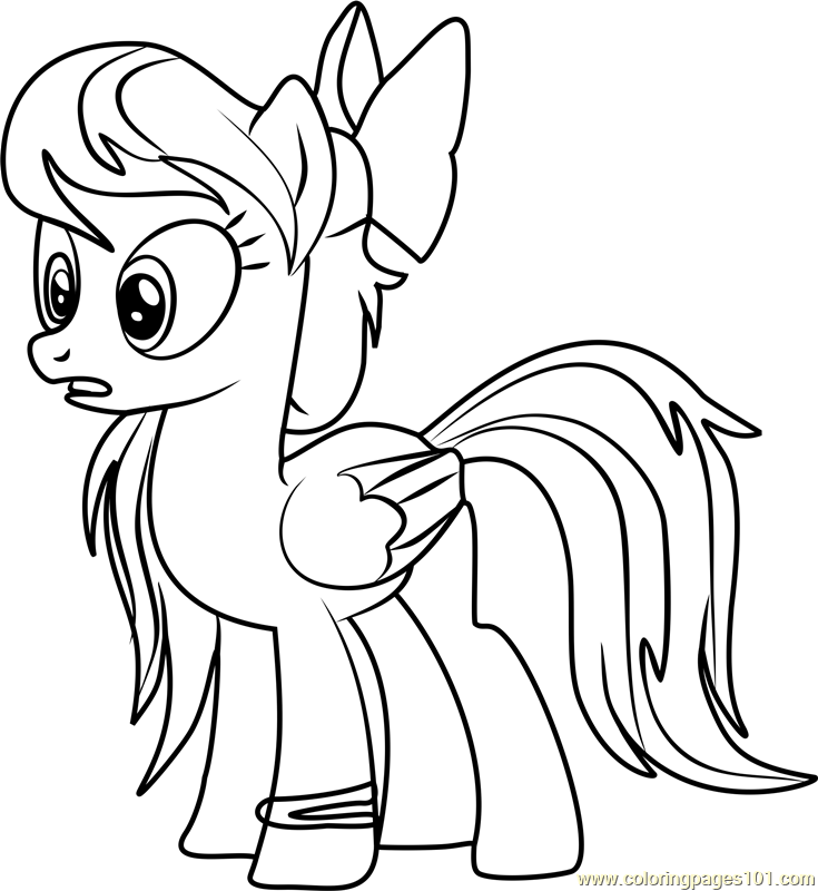 Angel Wings Coloring Page - Free My Little Pony - Friendship Is ...
