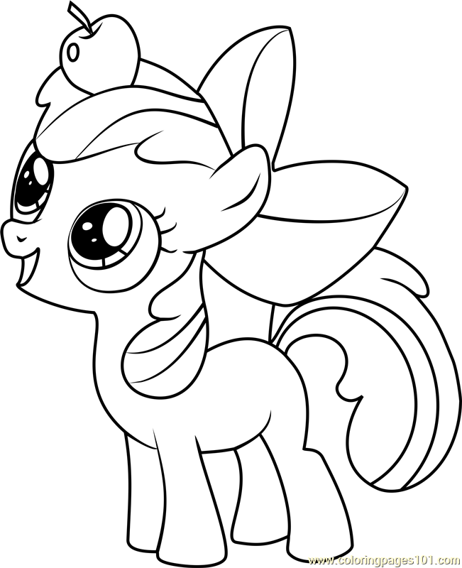 Apple Bloom Coloring Page