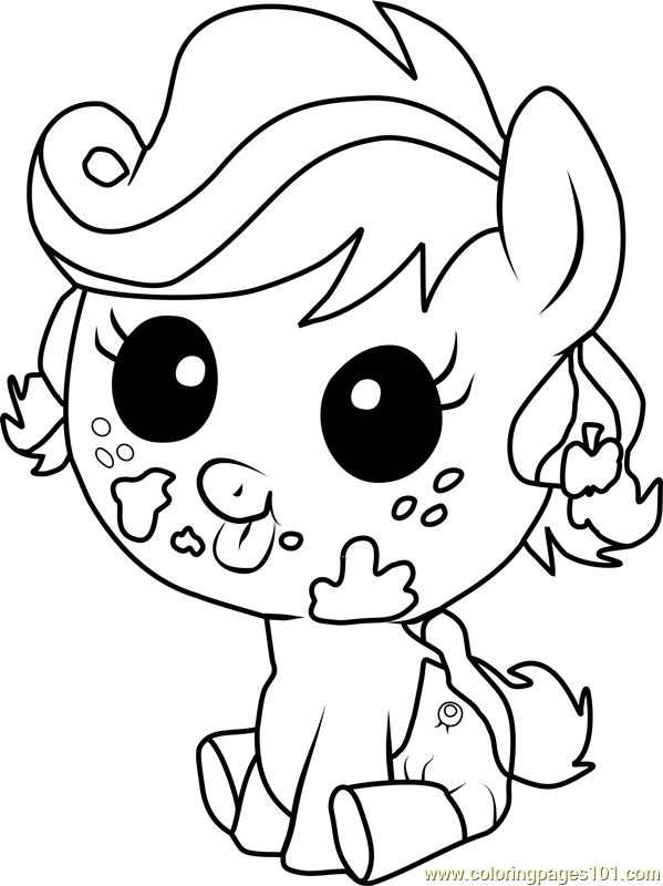 Applejack Infant Coloring Page
