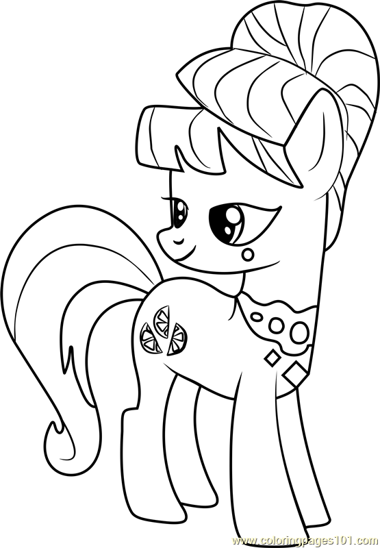 Aunt Orange Coloring Page Free My Little Pony