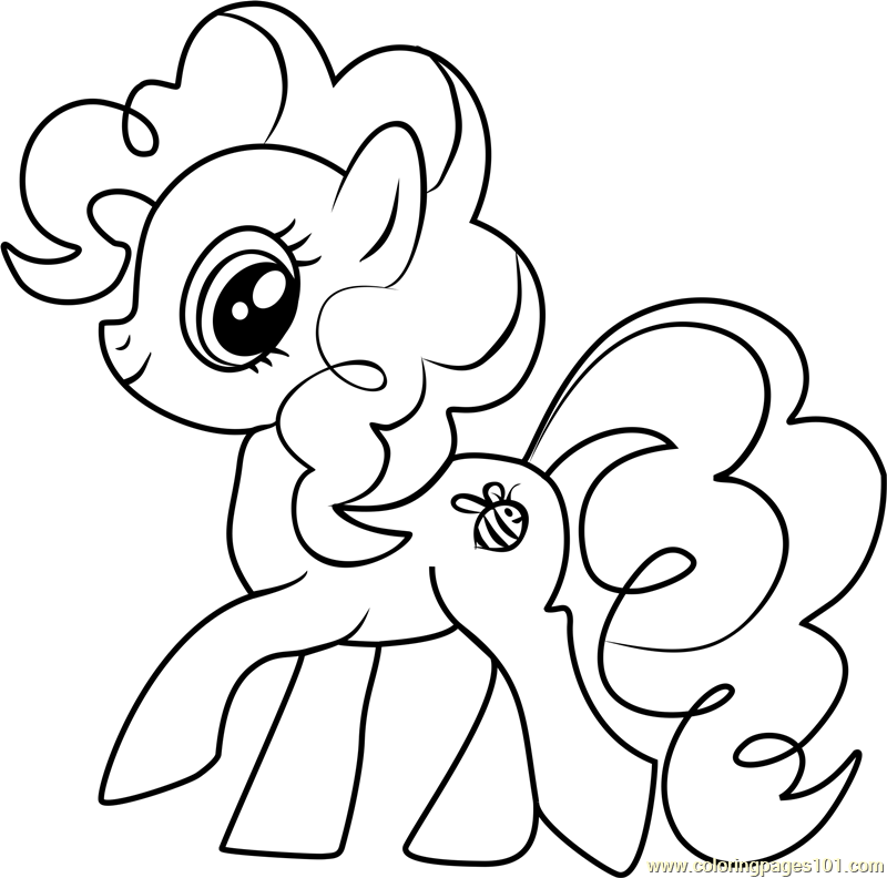 Bumblesweet Coloring Page Free My Little Pony