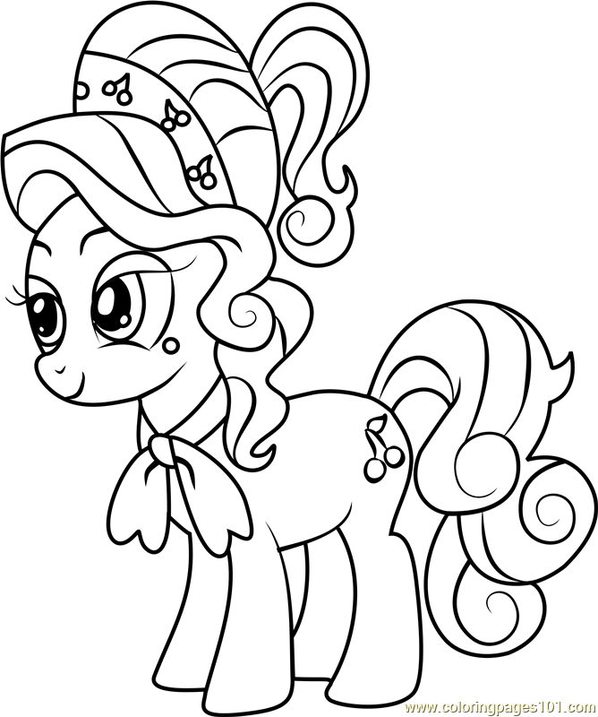 Cherry Jubilee Coloring Page