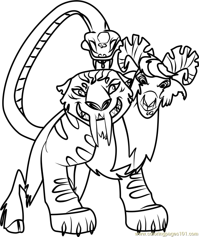 Chimera Coloring Page