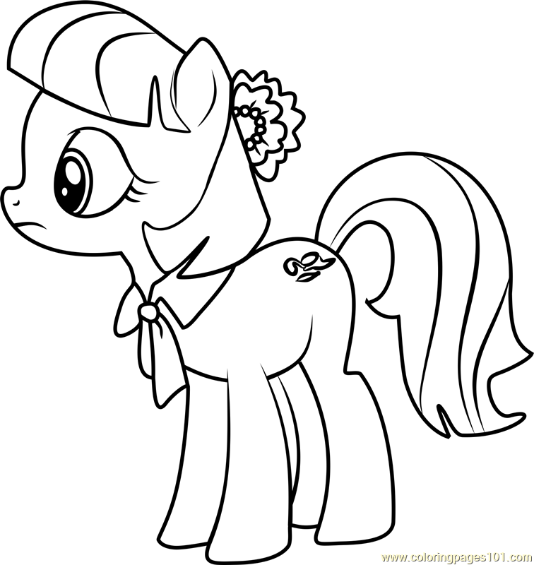 Coco Pommel Coloring Page Free My Little Pony