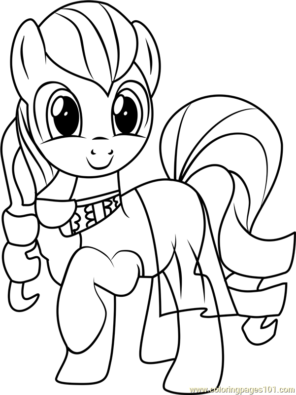 My Little Pony Sirens Coloring Pages : Coloratura coloring page free my little pony