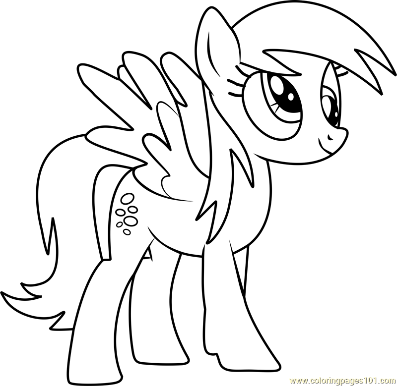 Derpy hooves coloring page free my little pony for My little pony characters coloring pages