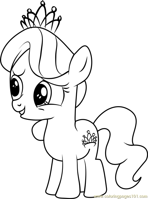 Diamond Tiara Coloring Page Free My Little Pony