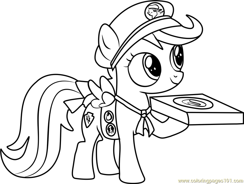 Filly guides coloring page free my little pony for Little pony coloring pages pdf