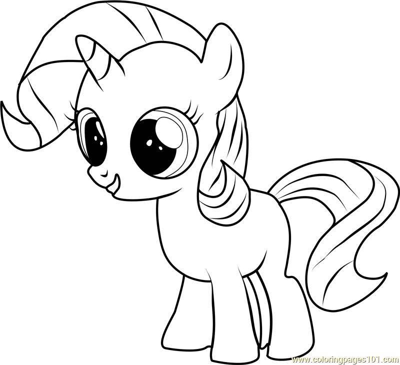 Filly Rarity Coloring Page Free