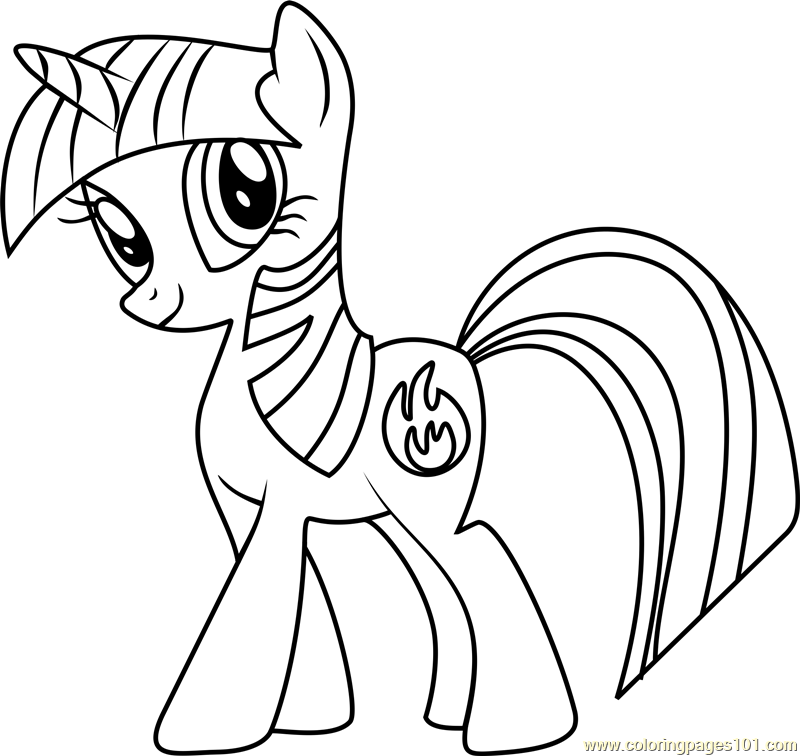 Firecracker Burst Coloring Page - Free My Little Pony ...
