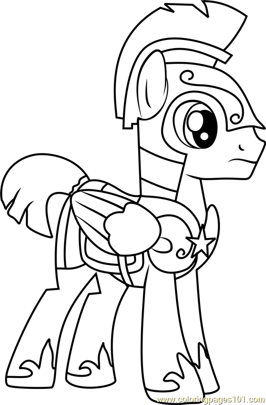 Flash Sentry Coloring Page Free My Little Pony