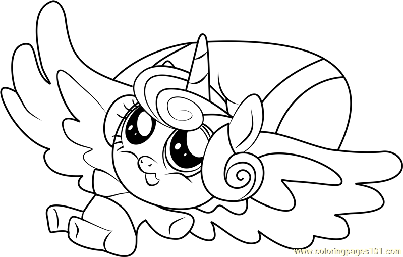 Flurry Heart Coloring Page Free My Little Pony