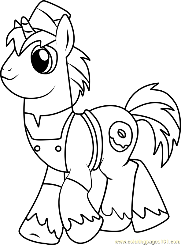 Joe Coloring Page Free My Little Pony Friendship Is