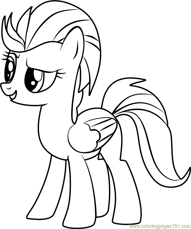 Lightning Dust Coloring Page Free My Little Pony