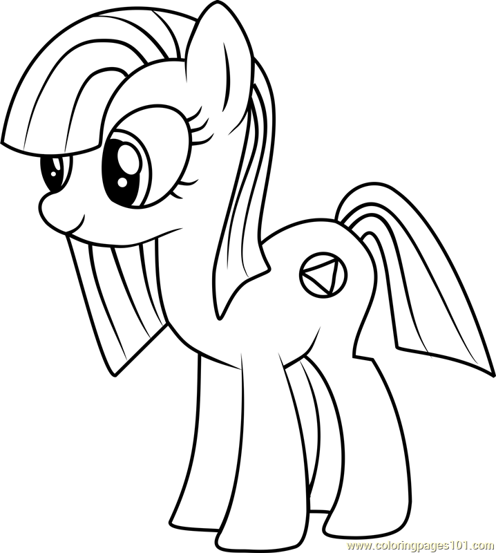 Marble Pie Coloring Page Free My Little Pony