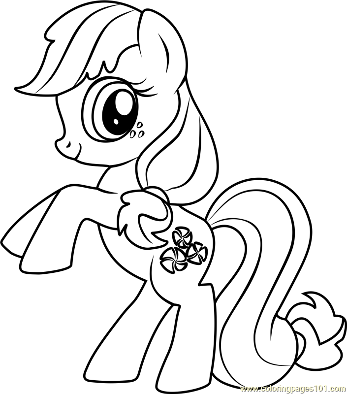 Minty Coloring Page Free My Little Pony Friendship Is Magic