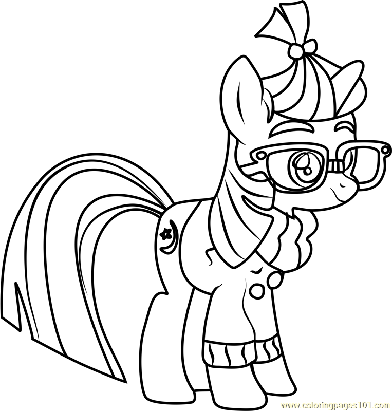 Moon Dancer Coloring Page Free My Little Pony