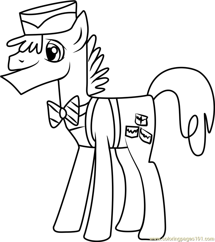 Mr Cake Coloring Page Free My Little Pony Friendship