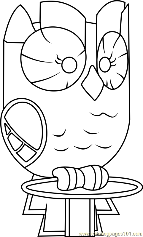 Owlowiscious Coloring Page