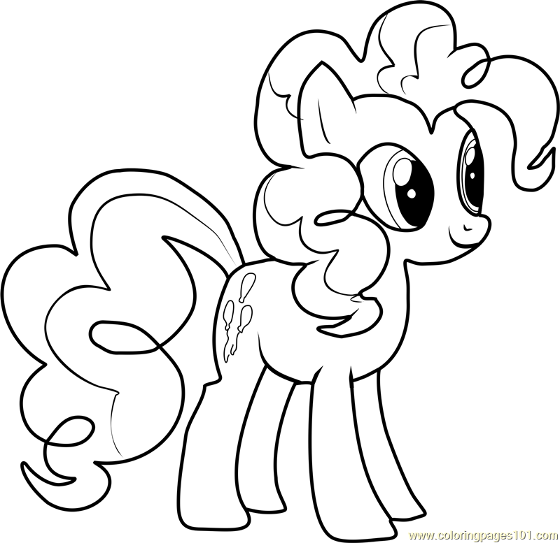 Pinkie Pie Coloring Page  Free My Little Pony  Friendship Is Magic