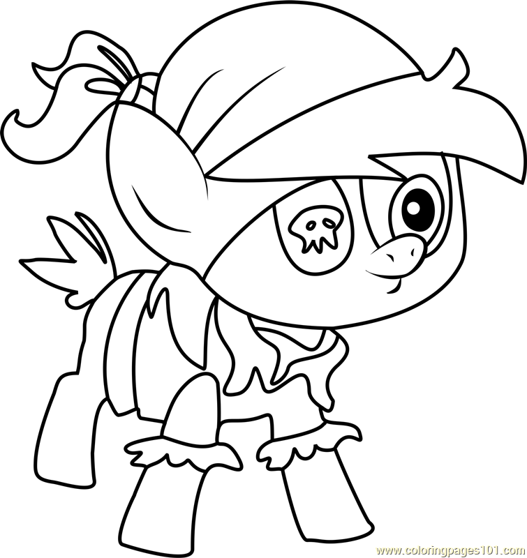 Pirate Pipsqueak Coloring Page