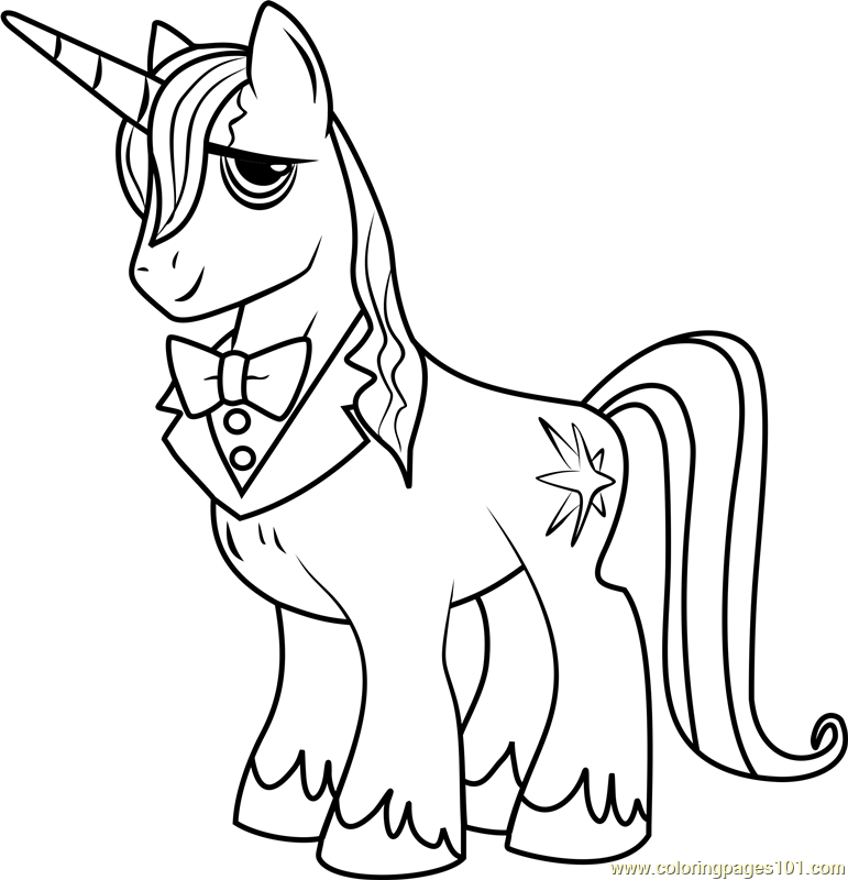 prince blueblood coloring page free my little pony friendship