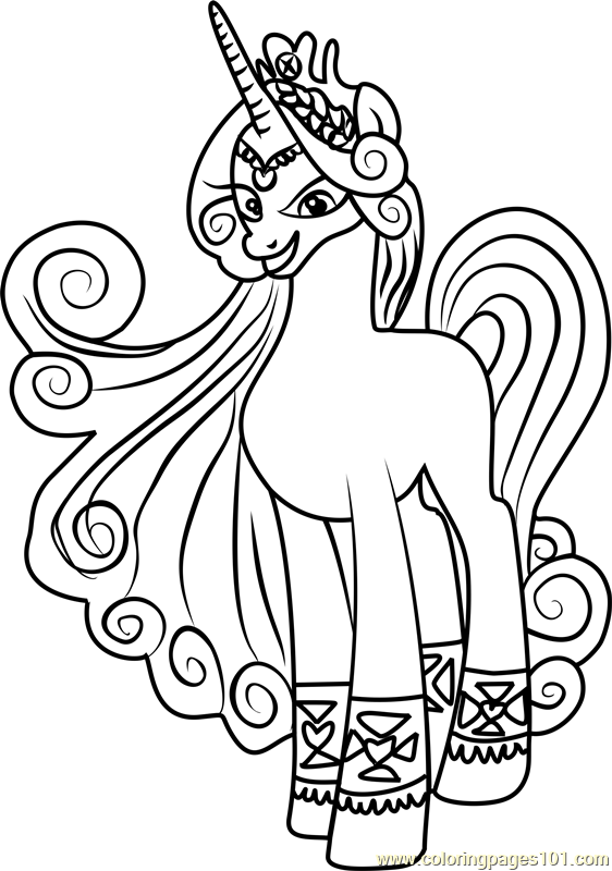 Princess Amore Coloring Page Free My Little Pony