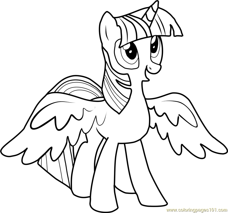 Coloring Pages Of Princess Twilight Sparkle : Princess twilight sparkle coloring page free my little