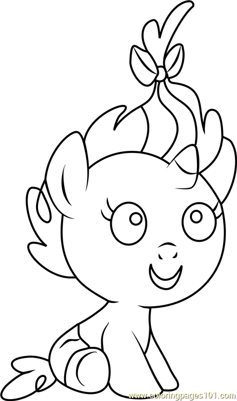 Pumpkin Cake Coloring Page Free My Little Pony