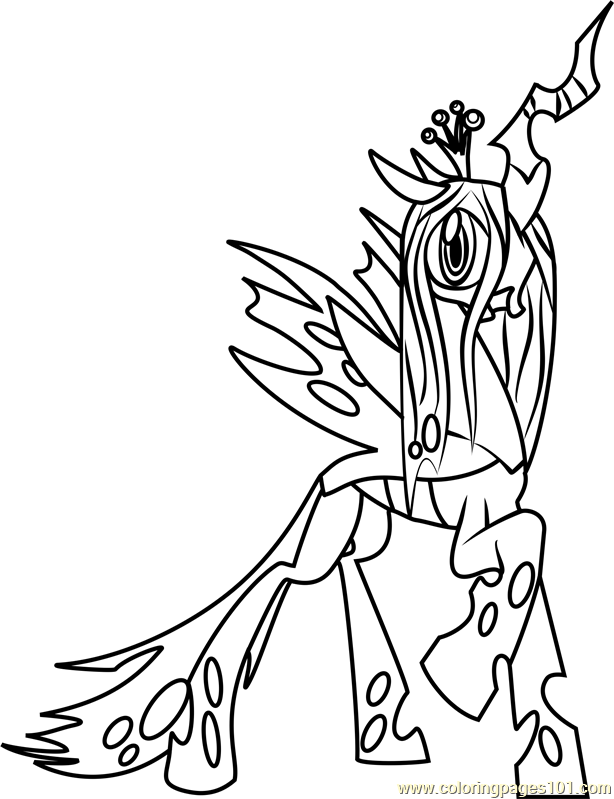 My Little Pony Friendship Is Magic Coloring Pages Pdf : Queen chrysalis coloring page free my little pony