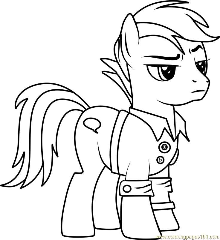 Quibble Pants Coloring Page Free My Little Pony