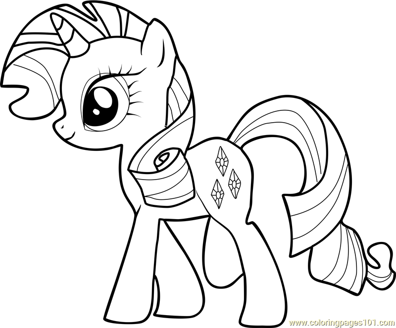 Rarity Coloring Page Free My Little Pony Friendship Is Rarity My Pony Coloring Pages