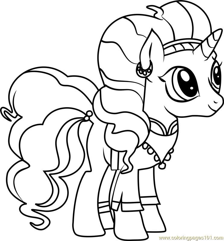 Saffron Masala Coloring Page Free My Little Pony