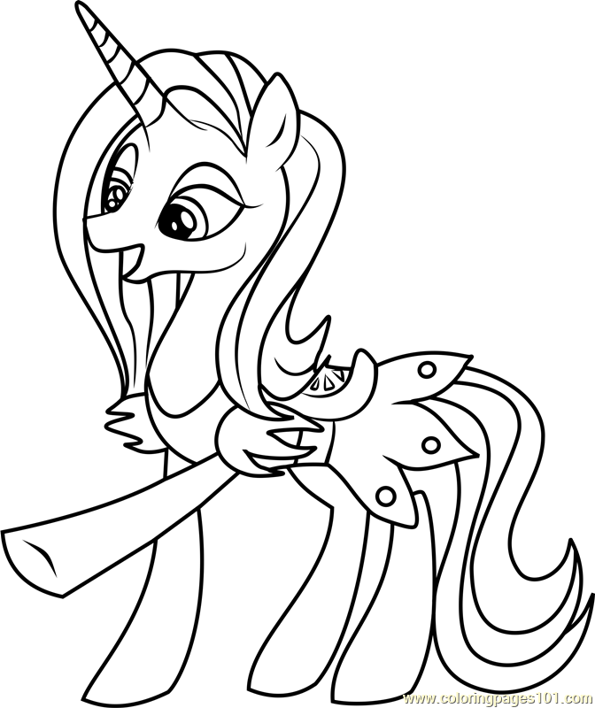 Sassy Saddles Coloring Page Free My Little Pony