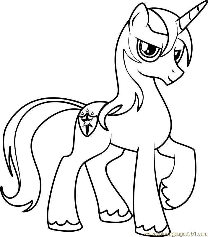 It is an image of Influential Shining Armor Coloring Page