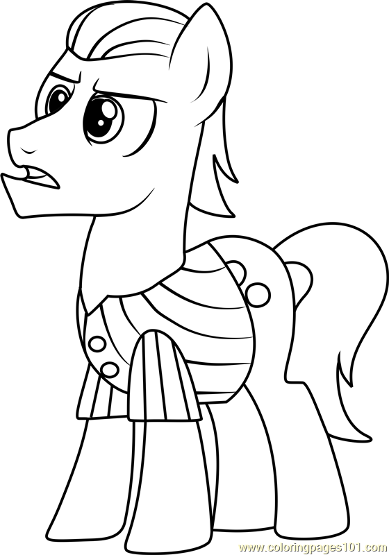 Silver Shill Coloring Page Free My Little Pony