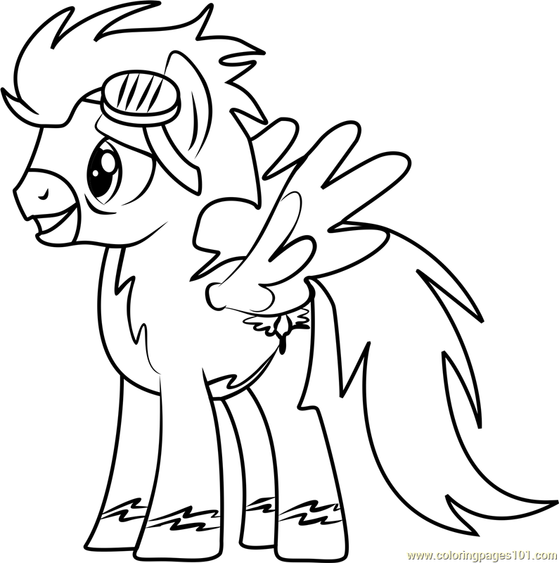 Soarin Coloring Page Free My Little Pony Friendship Is