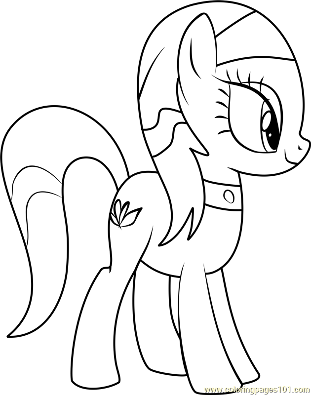 Spa Ponies Aloe Coloring Page