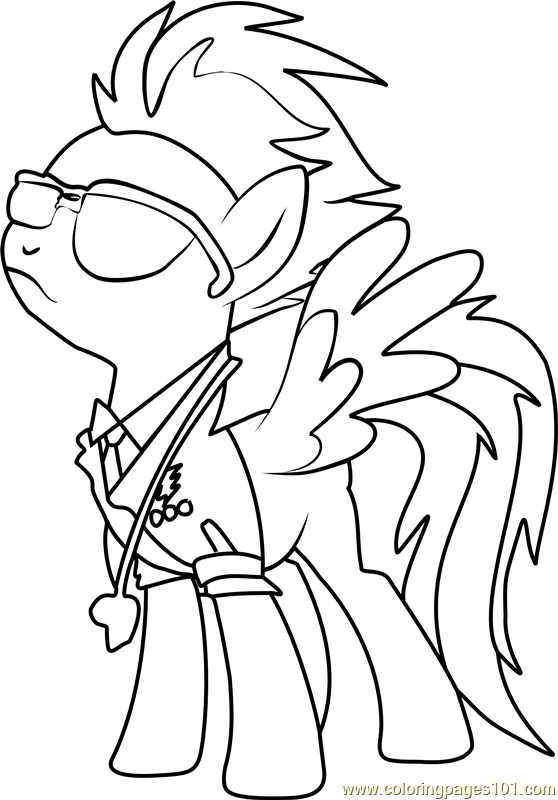 Spitfire Coloring Page Free My Little Pony Friendship
