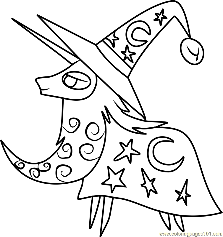 Star Swirl the Bearded Coloring Page Free My Little Pony