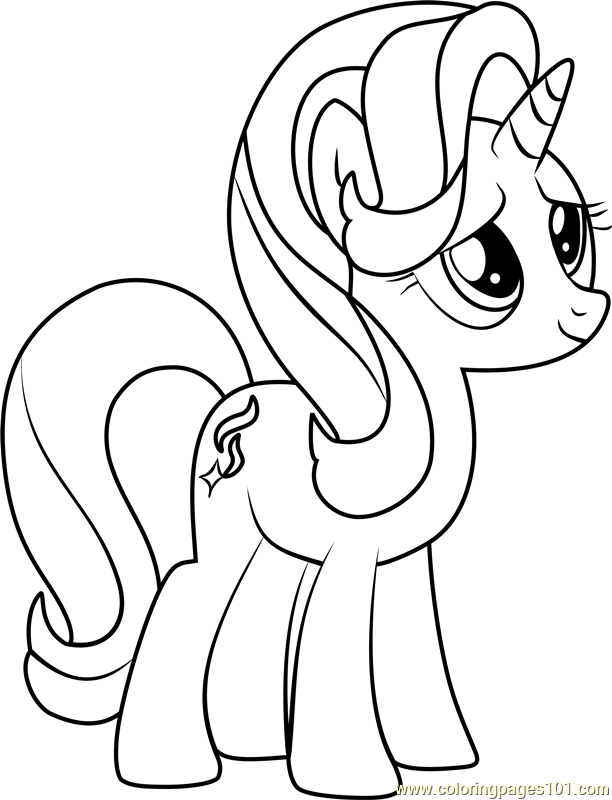 Starlight Glimmer Coloring Page Free My Little Pony