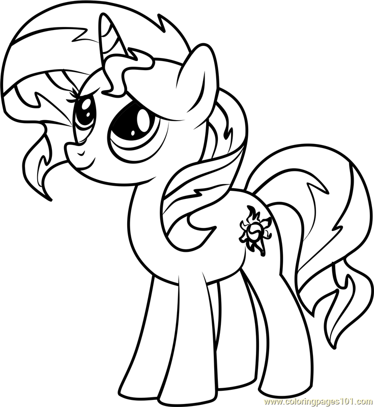 Sunset Shimmer Pony Coloring Page - Free My Little Pony ...
