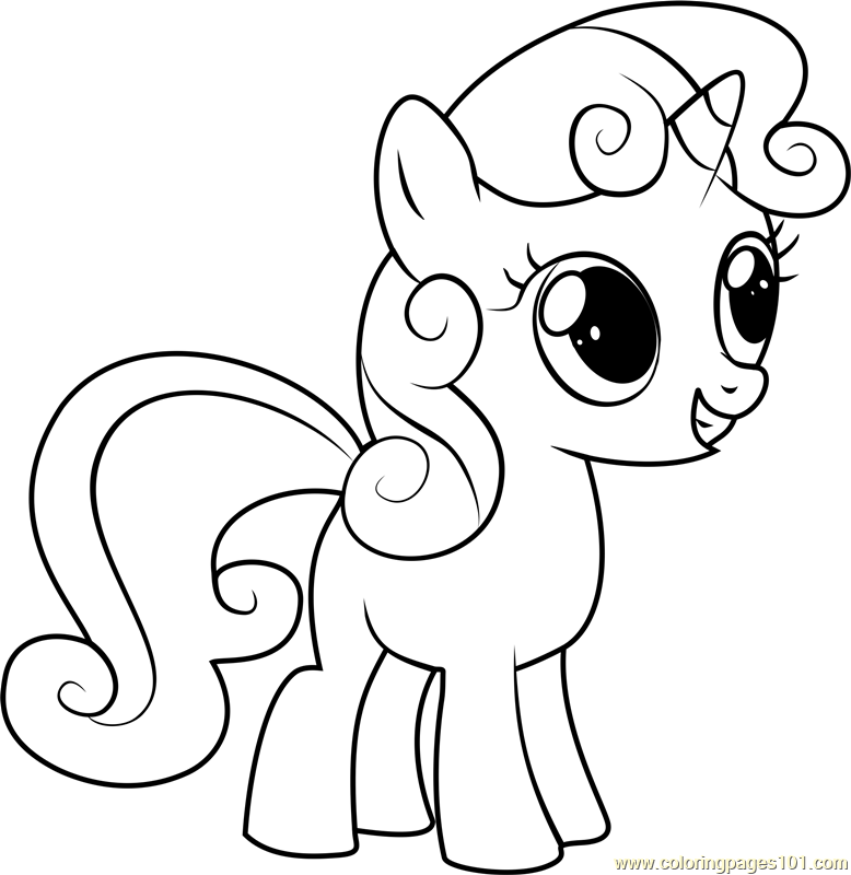 My Little Pony Names Coloring Pages : Sweetie belle coloring page free my little pony