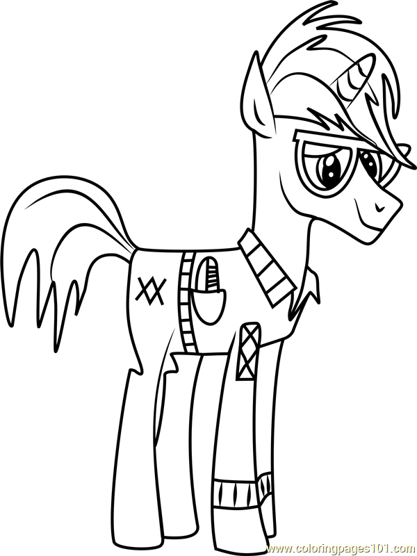 Trenderhoof Coloring Page Free My Little Pony