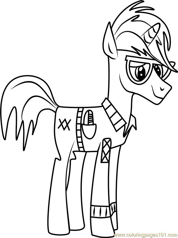 Trenderhoof Coloring Page Free My Little Pony
